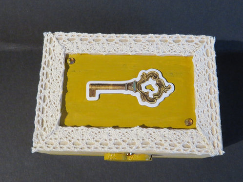 Boîte motif clé