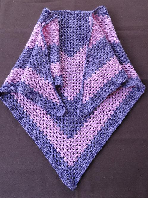 Châle rose et violet