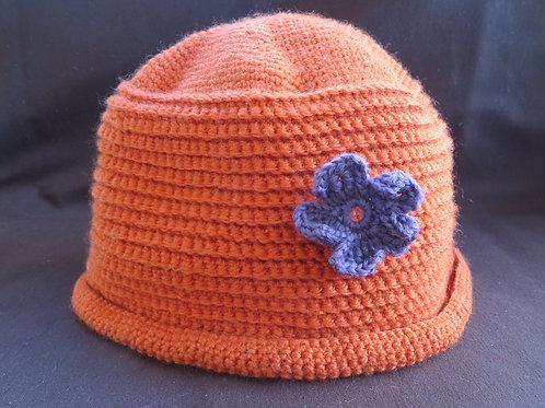 Bonnet adulte orangé