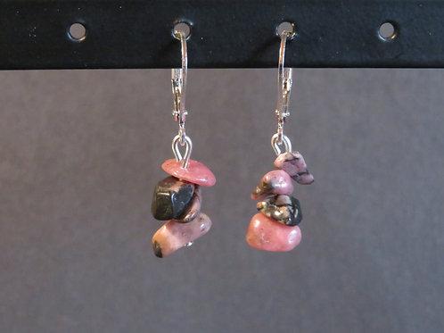 Boucles courtes Rhodonite multicolor