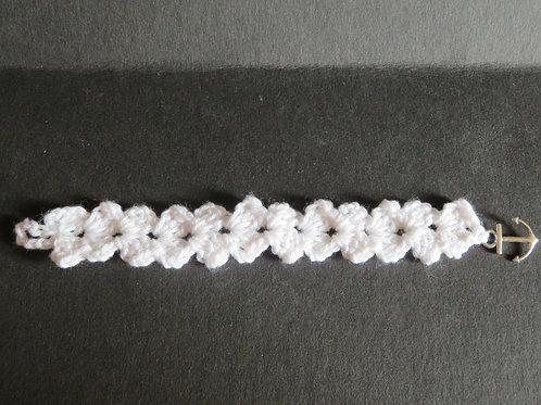 Bracelet crochet blanc