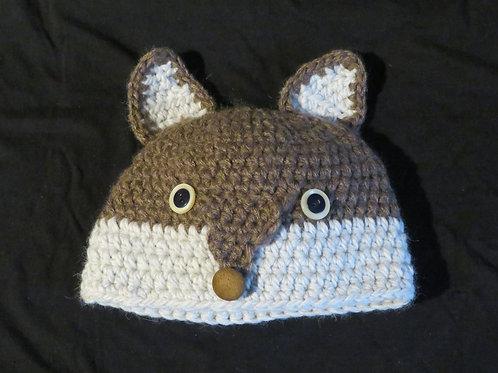 Bonnet renard marron