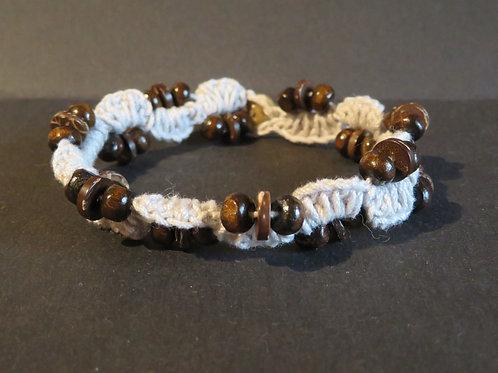 Bracelet crochet gris