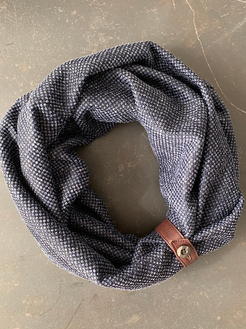 luxury navy scarf