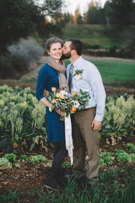Nevada City Wedding Kiss Farm