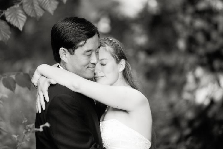 Berkeley Wedding Bride Groom Hug