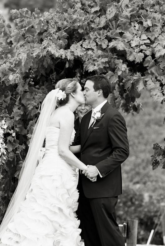 Wine Country Ceremony Kiss