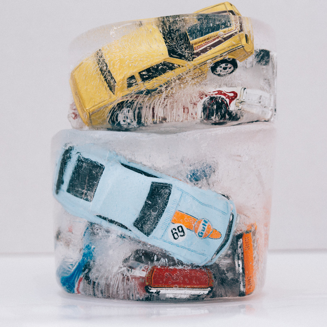 Cars in Ice Ingrid Nelson Photographer Nevada City