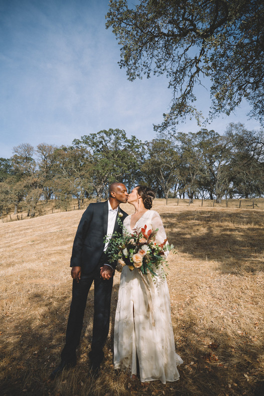 Green Valley Wedding Kiss Oak Trees