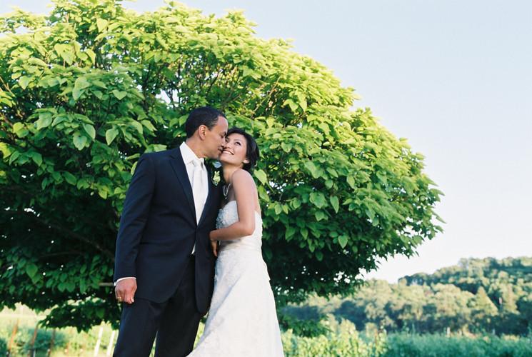 Bride and Groom Hopland Wedding