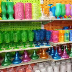 Luau Style Drink Cups