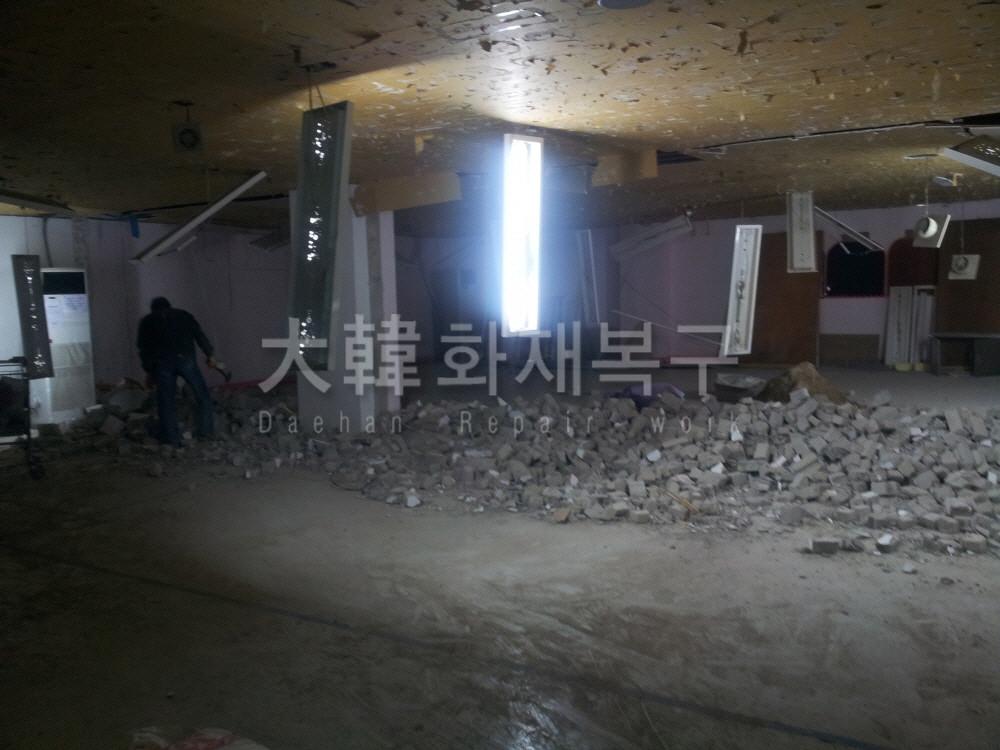 2012_10_면목교회 지하 리모델링_공사사진_6