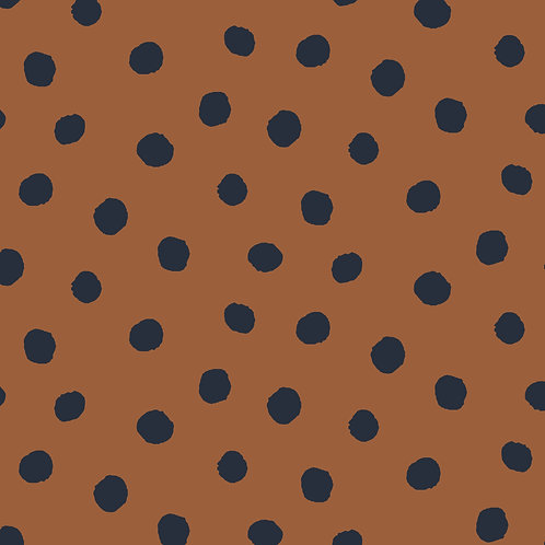 French terry Dots caramelo