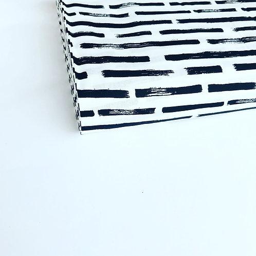 Popelín Stripes white