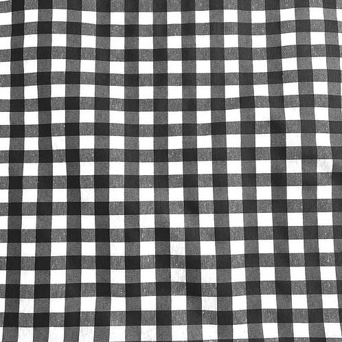 Loneta Vichy black (doble ancho)