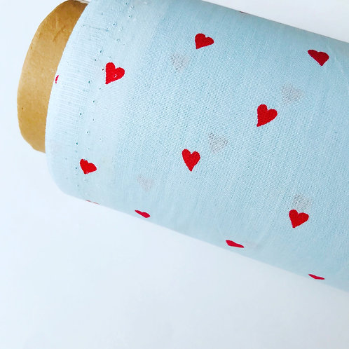 Algodón impermeable Hearts (unidad mínima 50cm)