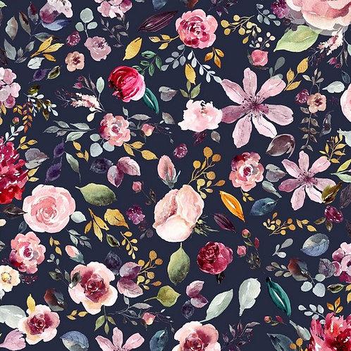 Navy Flowers (organic)