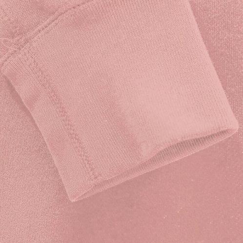 Puño tubular rosa empolvado