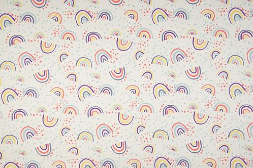 Popelín Rainbow white
