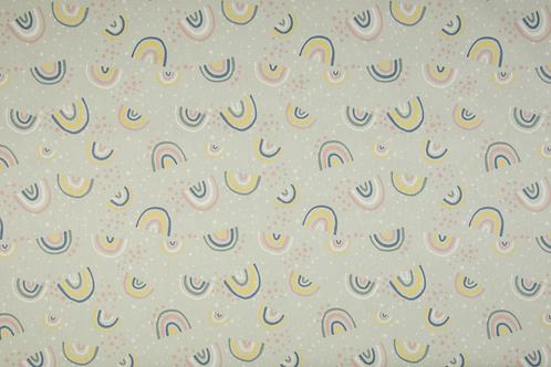 Popelín Rainbow mint