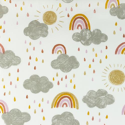 Popelín Rain and Rainbow