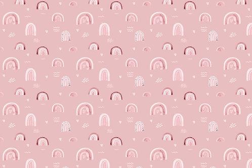 Popelín Pink Rainbows