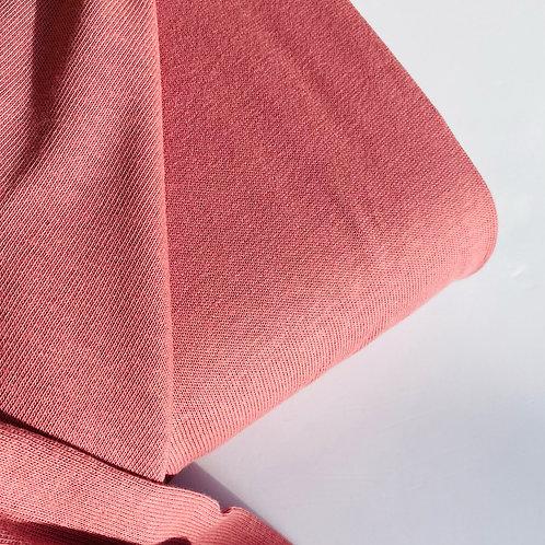 Knit cotton rosa empolvado