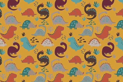 French terry afelpado Dinosaurios