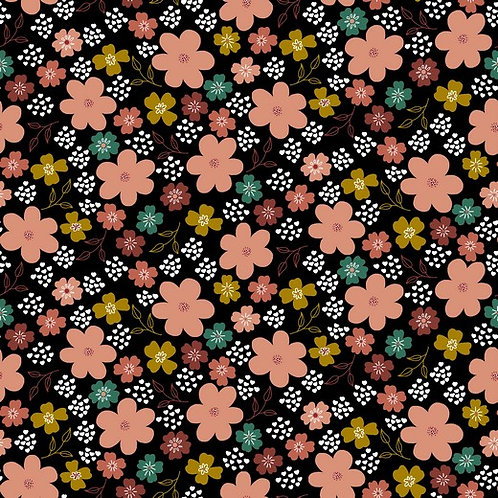 Flowers in black (organic)