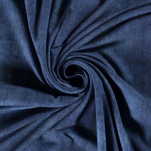 Punto de algodón Jeans Blue
