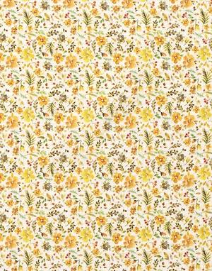 Doble Gasa Yellow flowers
