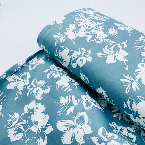 Cotton Stretch Flowers mint