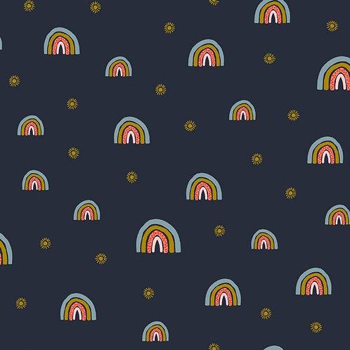 Sudadera Rainbow Navy (organic)