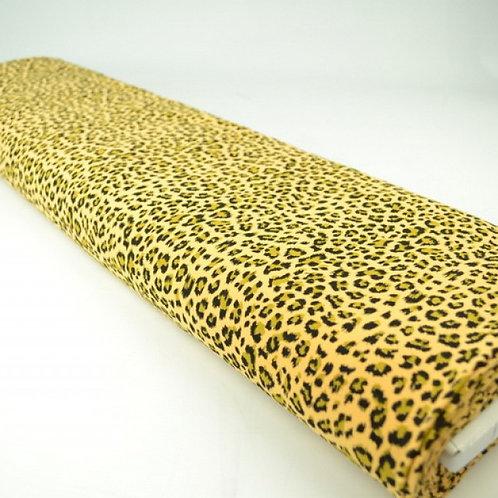 Mustard animal print-pieza 1metro