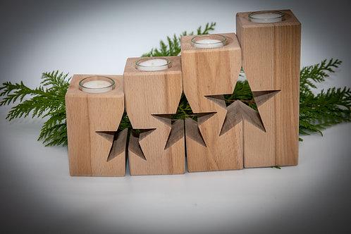 Advents Set Kerzenhalter Sterne