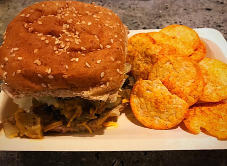 Vegan Cheese Steak and Hummus Chips
