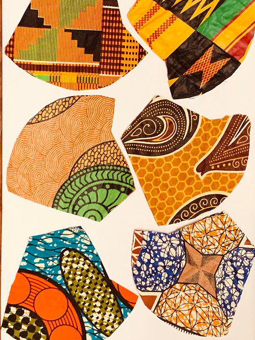 African Print Child Face Masks