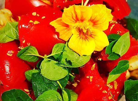 Tomato, Cucumber, Vegan Mozzarella Salad
