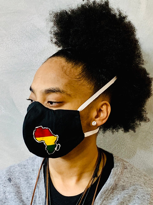 African Print Adult Mask