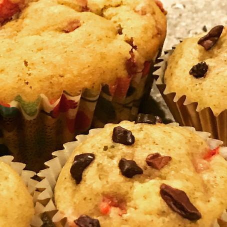 Strawberry Cocoa Nib Muffins