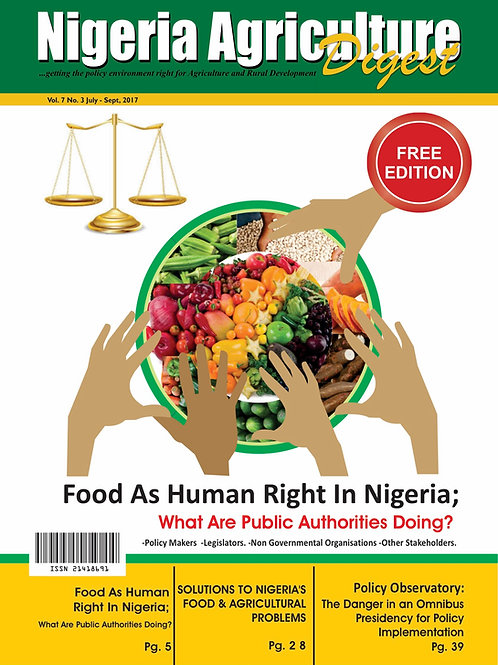 Food as Human Right in Nigeria - What are Public Authorities Doing? (July, 2017)