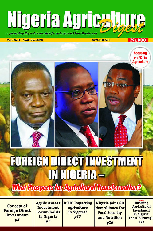 Foreign Direct Investment in Nigeria (April, 2013)