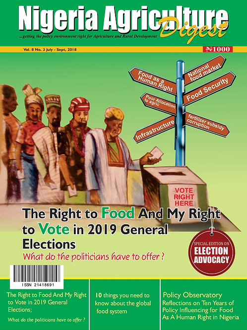 The Right to Food and my Right to Vote in 2019 General Election (July, 2018)