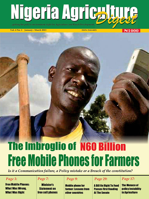 The Imbroglio of N60 Billion Free Mobile Phones for Farmers (Jan. 2013)