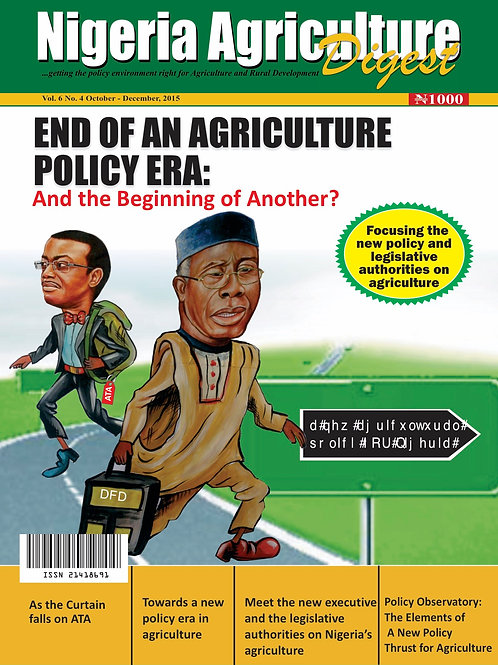 End of an Agriculture Policy Era - and the Beginning of Another? (Oct., 2015)