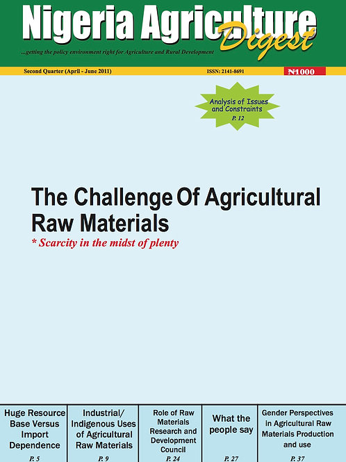 The Challenge of Agricultural Raw Materials (April, 2011)
