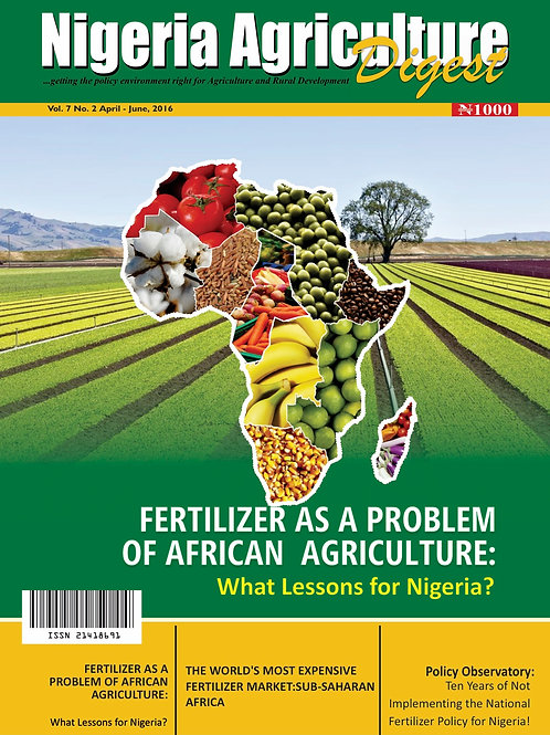 Fertiliser as a Problem of African Agriculture (April, 2016)