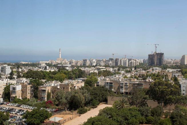 הנוף ממגדלי אלרוב, תל אביב 2020