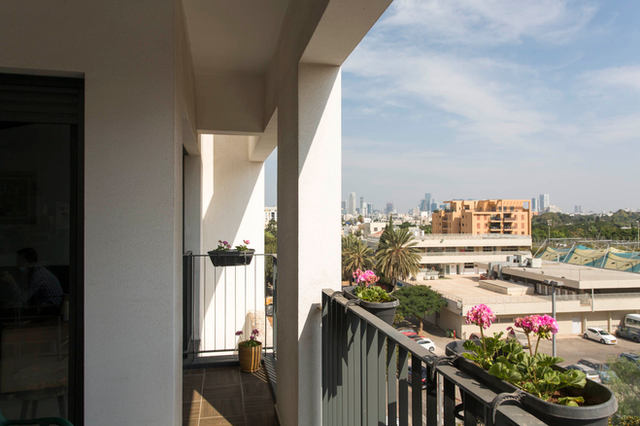 הנוף של תל אביב נשקף מנכס בשיווק בפרויקט ״יפו בשדרה״, 2020