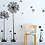 Thumbnail: Wall Decal Floral Black and White